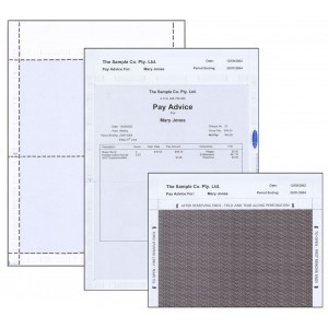 MICROPAY A4 SELF SEAL LASER PAY ENVELOPE - V FOLD