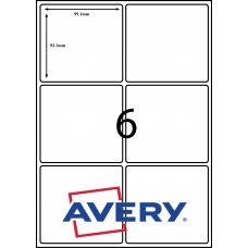 AVERY LABELS L7166                        6xLABELS PER SHEET 99.1mm X 93.1mm