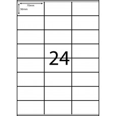 CASES 21 LABELS - 3 X 8 - 24 LABELS PER SHEET
