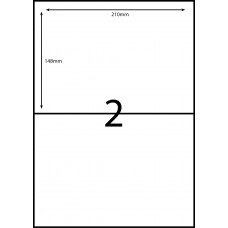 2 LABELS PER SHEET 210mm x 148mm  COMPATIBLE WITH AVERY DL-02