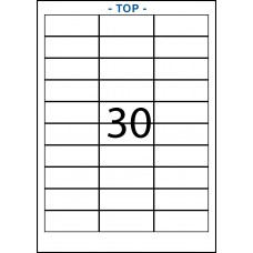 CASES 21 LABELS – 3 X 10 LABELS - 30 PER SHEET