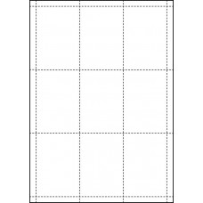 WHITE CARD SHELF TAGS - 9 PER SHEET - TAG SIZE: 63.3mm x 92.3mm