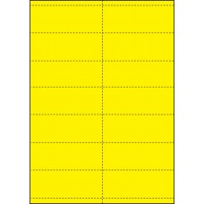 YELLOW CARD SHELF TAGS - 14 PER SHEET - TAG SIZE: 99mm x 38.1mm - A4-14QKR/Y