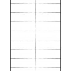 WHITE CARD SHELF TAGS - 14 PER SHEET - TAG SIZE: 99mm x 38.1mm - A4/14QKR