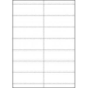 WHITE CARD SHELF TAGS - 14 PER SHEET - TAG SIZE: 99mm x 38.1mm - A4-14QKR/W