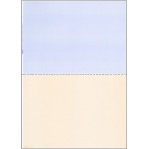 A4 BLUE/BEIGE PAPER WITH CENTRE HORIZONTAL PERFORATION