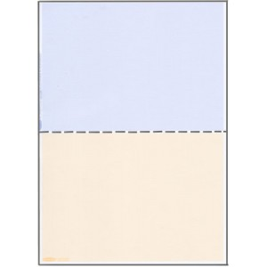 A5 BLUE/BEIGE PAPER WITH CENTRE HORIZONTAL PERFORATION