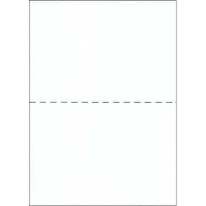 A5 WHITE PAPER WITH CENTER HORIZONTAL PERFORATION