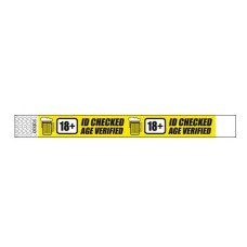 Tyvek Wristband - Colour: Yellow Age Verified
