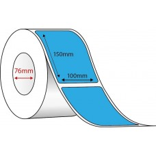 BLUE DIRECT THERMAL - 100mm x 150mm - 1000 PER ROLL