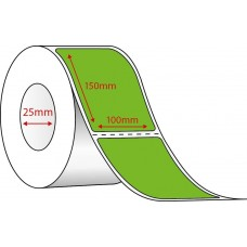 GREEN DIRECT THERMAL - 100mm x 150mm - 400 PER ROLL