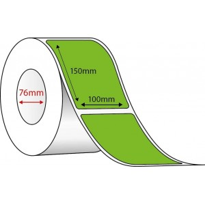GREEN DIRECT THERMAL - 100mm x 150mm - 1000 PER ROLL