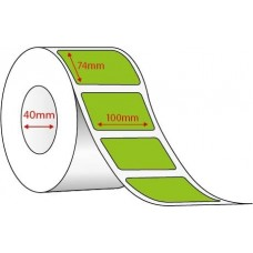 GREEN DIRECT THERMAL - 100mm x 74mm - 500 PER ROLL