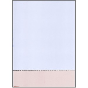 A4 BLUE/BEIGE PAPER WITH HORIZONTAL PERFORATION AT 59mm