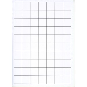 WHITE CARD SHELF TAGS - 70 PER SHEET - TAG SIZE: 28mm x 28mm - A4-70TAG