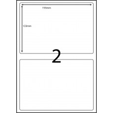 2 LABELS PER SHEET 193mm x 133mm