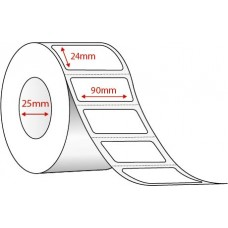 90mm x 24mm  - WHITE THERMAL TRANSFER - 1500 LABELS PER ROLL