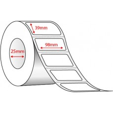 98mm x 39mm - WHITE THERMAL TRANSFER - 1000 PER ROLL