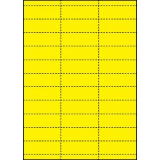 YELLOW CARD SHELF TAGS - 33 PER SHEET - TAG SIZE: 65mm x 25.4mm - A4-33 TAG YE