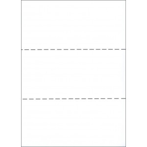 A4 WHITE PAPER WITH 2 HORIZONTAL PERFORATIONS