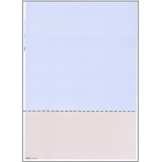 A4 BLUE/BEIGE PAPER WITH HORIZONTAL PERFORATION AT 92mm