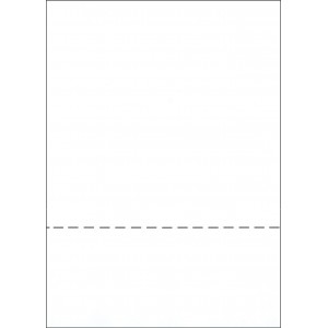 A4 WHITE PAPER WITH HORIZONTAL PERFORATION AT 92mm