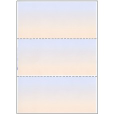A4 BLUE/BEIGE PAPER WITH 2 HORIZONTAL PERFORATIONS