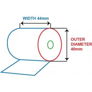 44mm x 40mm - BOND PAPER ROLL - 1 PLY