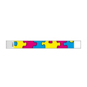 Tyvek Wristband - Colour: Puzzle