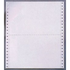 "11"" x 9.5"" CONTINUOUS COMPUTER PAPER - WITH MID CROSS PERFORATION"
