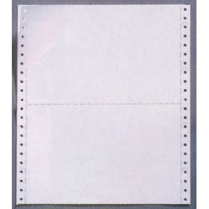 """11"""" x 9.5"""" CONTINUOUS COMPUTER PAPER - WITH MID CROSS PERFORATION"""