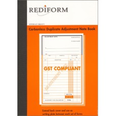 REDIFORM ADJUSTMENT NOTE BOOK - SMALL - 2 PLY