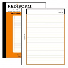 REDIFORM FEINT RULED BOOK - LARGE - 3 PLY