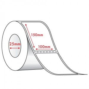 WHITE  DIRECT THERMAL - 100mm x 150mm - 400 PER ROLL
