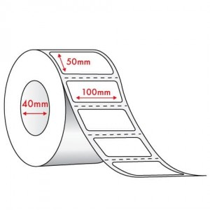 WHITE DIRECT THERMAL - 100mm x 50mm - 1000 PER ROLL