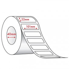 WHITE DIRECT THERMAL - 101mm x 22mm - 1500 PER ROLL