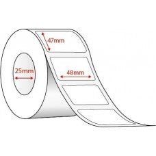 WHITE DIRECT THERMAL - 48mm x 47mm - 2000 PER ROLL
