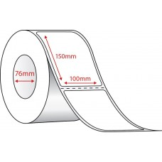 WHITE THERMAL TRANSFER - 100mm x 150mm - 1000 PER ROLL