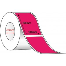FLUORO PINK THERMAL TRANSFER LABELS - 100mm x 150mm - 1000 PER ROLL