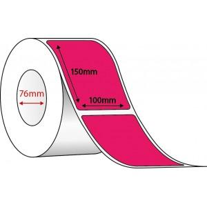 FLUORO PINK THERMAL TRANSFER LABELS - 100mm x 150mm - 1000 PER ROLL