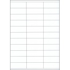 WHITE CARD SHELF TAGS – 33 PER SHEET – TAG SIZE: 70mm x 25mm