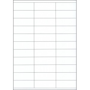 WHITE CARD SHELF TAGS – 33 PER SHEET – TAG SIZE: 70mm x 25mm  - A4-33 SHELFT